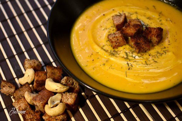 Supa crema de dovleac copt – Vegan