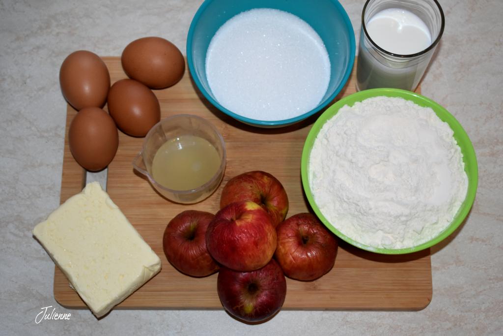 ingrediente pentru prajitura cu mere