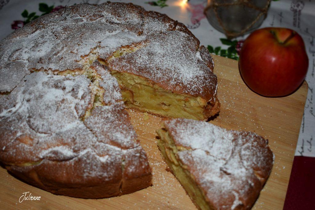 prajitura cu mere pe blat