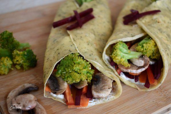 Clatite sarate cu turmeric si baharat – Vegetarian