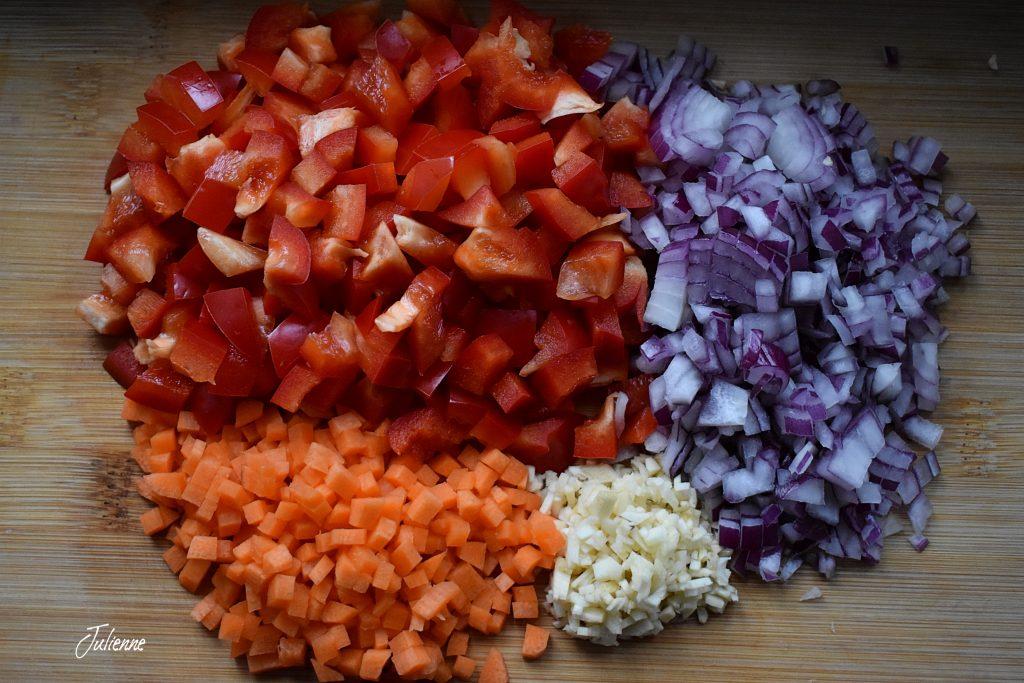ingrediente pentru Chili con carne vegan